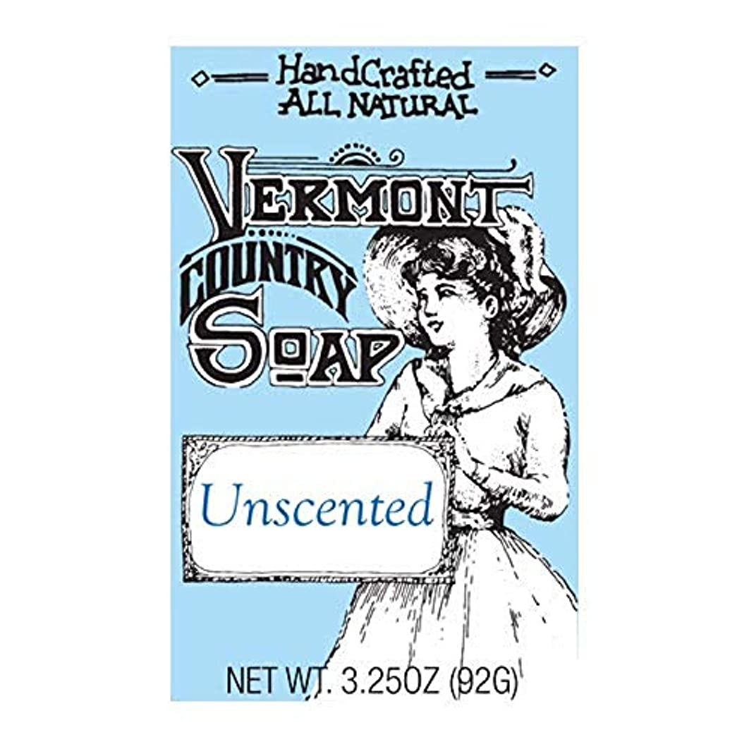 縮れたスカーフ掃くバーモントカントリーソープ (無香料) オーガニック石鹸 洗顔 92g
