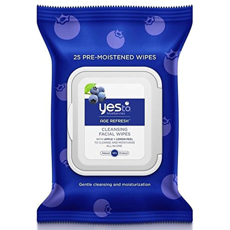 はいブルーベリーにパックあたり25ワイプ x4 - Yes to Blueberries Wipes 25 per pack (Pack of 4) [並行輸入品]