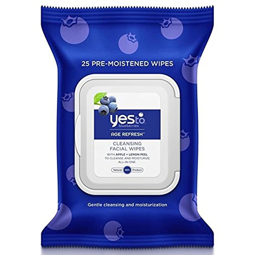すり減るモンクジャムYes to Blueberries Wipes 25 per pack - はいブルーベリーにパックあたり25ワイプ [並行輸入品]