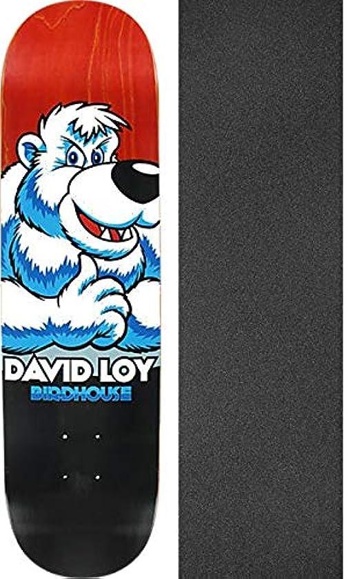 さわやか統計的組立Birdhouse Skateboards David Loy Snow Bear スケートボードデッキ - 8.12インチ x 32インチ ブラックマジックグリップテープ付き - 2個セット