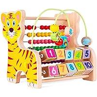 QXMEI トイラウンドビーズ 宝箱 子供パズル玩具 1~3歳の女の赤ちゃんビーズ0-2歳の赤ちゃん 早期教育 男の子 02170