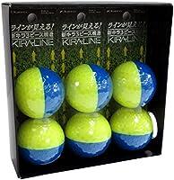 キャスコ(Kasco) KIRA ゴルフボール6個入(2個パック×3) ユニセックス KIRALINE イエロー/ブルー 最適ヘッドスピード:全領域 構造:3ピース