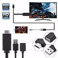 ACHICOO USB Female ~ HDMI Male HDMI変換ケーブル iPhone8/ 7/ 7plus/ 6s/ 6 plus用 HDMI HDTVアダプタ ケーブル USB