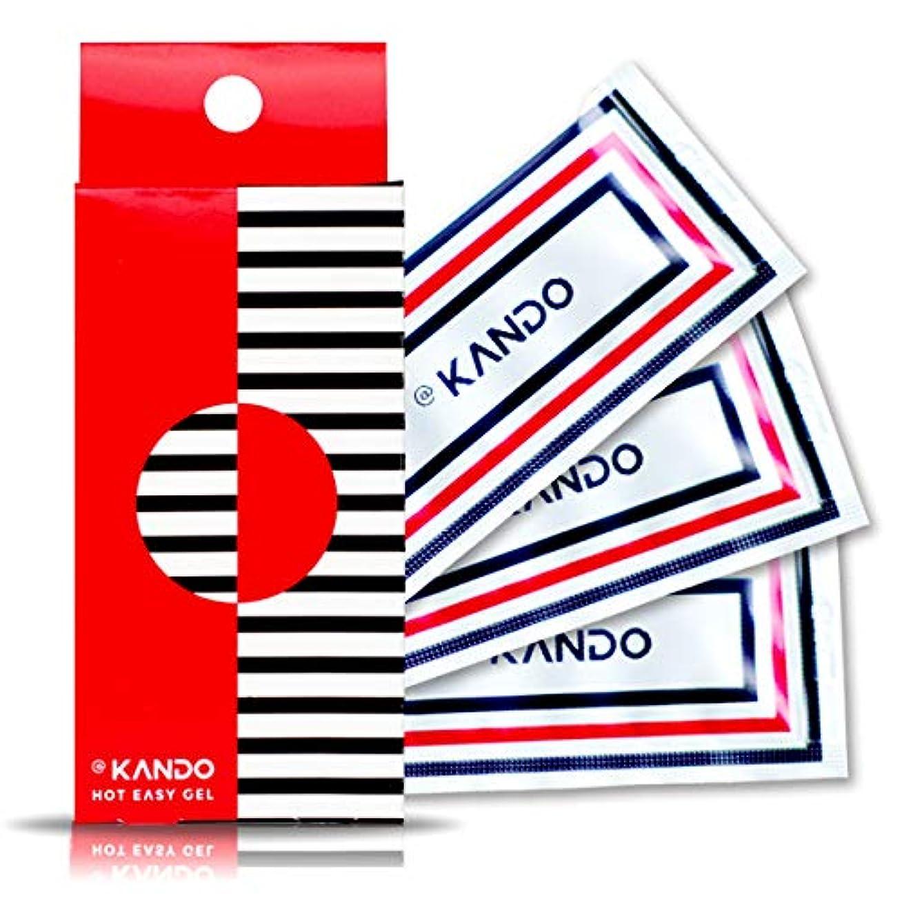 怒り飛ぶ廃止@KANDO アットカンドホットイージージェル(ボディマッサージジェル)5g×3包入 温感タイプ