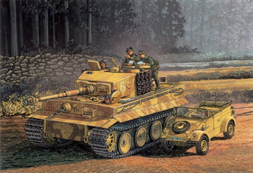 1/72 タイガーI 中期生産型 (ツィンメリットコーティング) & キューベルワーゲン