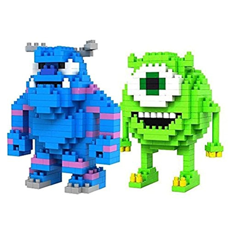 [LOZBlock]LOZBlock LOZ Diamond Blocks Monsters INC Mike Wazowski and Sulley 2 Pcs Set 9162,9163 [並行輸入品]