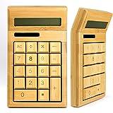 (Tstar)竹製電卓 シンプルで使いやすい 優しい 天然 素材 竹