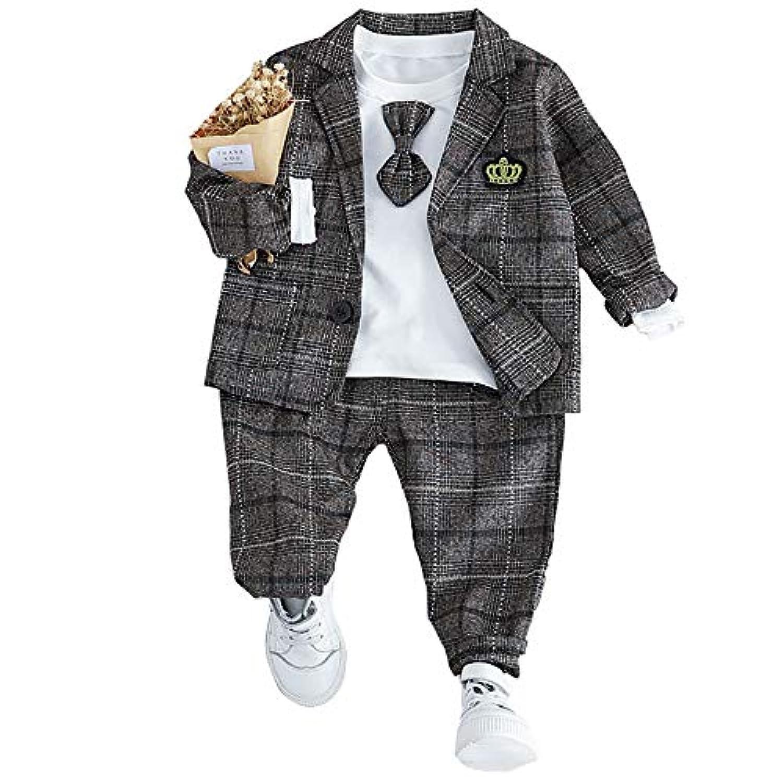Neky ベビー服 ロンパース 男の子 子供用 セレモニーロンパース 赤ちゃん 结婚式服 洋服3点セット 100