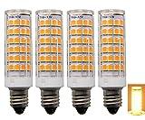 セラミックス E11 口金 LED 電球 110V 6W 76pcs 835SMD 360度照明 調光可能 4個入り 電球色