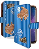 Google Pixel 3a XL ケース 手帳型 三匹 ねこ ブルー ねこ柄 ストライプ スマホケース グーグルピクセル3A 手帳 カバー GooglePixe 3axl 3axlケース 3axlカバー 猫 ネコ キャット 猫柄 アクセ [三匹 ねこ ブルー/t0743c]