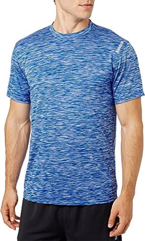 アーサーコナンドイル必要ない癌リーボック トップス シャツ Reebok Men's Spacedye Performance T-Shir VitalBlue [並行輸入品]