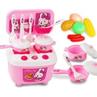 elaco新しいクリスマス子供ギフトキッチンセット子供用Pretend Play Toy Cooking Foodおもちゃ free size マルチカラー Elaco-MT-658