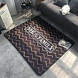 ヨーロッパ人の赤ちゃんクロール マット,ノンスリップ厚くカーペット 格子縞 ドット 幾何学的なスタイル ベッドルームクッション 130 *..