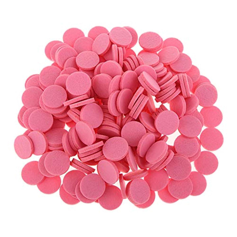 P Prettyia アロマセラピー エッセンシャルオイル ディフューザー パッド 詰替パッド 吸収性 洗える 全11色 - ピンク