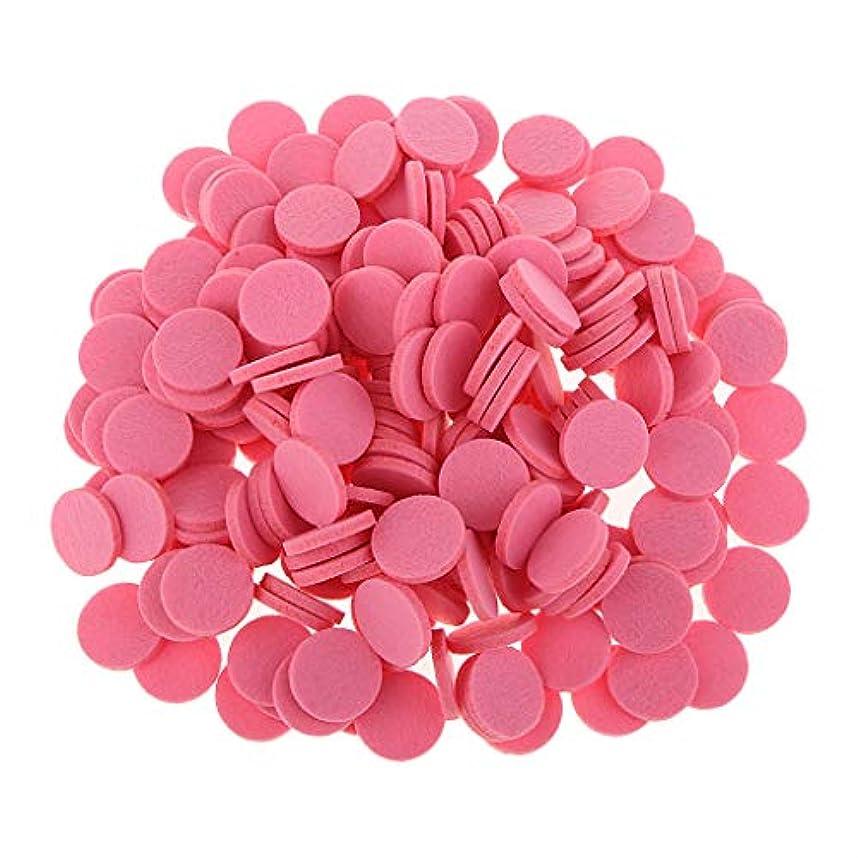 ベルトそばにタブレットアロマセラピー エッセンシャルオイル ディフューザー パッド 詰替パッド 吸収性 洗える 全11色 - ピンク