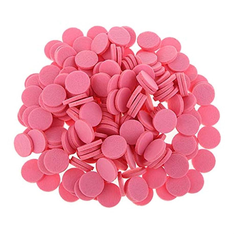 汚染された役割回転アロマセラピー エッセンシャルオイル ディフューザー パッド 詰替パッド 吸収性 洗える 全11色 - ピンク