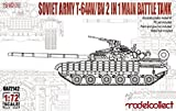 モデルコレクト 1/72 ソビエト連邦軍 T-64AV/BV 主力戦車 プラモデル MODUA72128