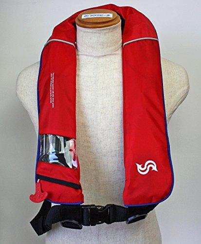 自動膨張式 ライフジャケット 肩掛式 BSJ-2520RS レッド×ブルー 高階 ブルーストーム 国交省認定品 タイプA 検定品 桜マーク付