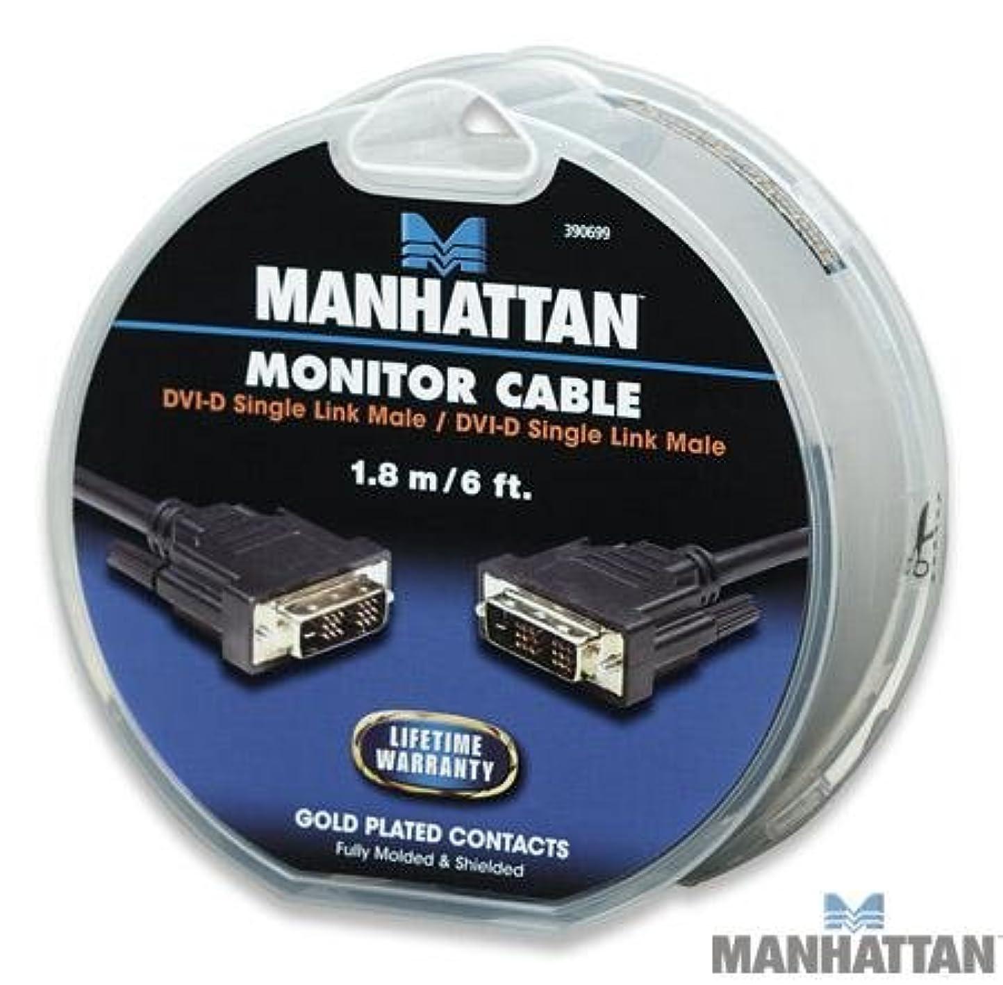 続ける新しい意味とまり木Manhattan 6フィートDVI - Dシングルリンクオスto DVI - Dシングルリンクオスビデオケーブル、ゴールドメッキ、完全にシールド