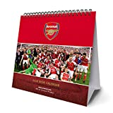 Arsenal F.C. Official Desk Easel 2018 Calendar - Month To View Desk Format (Desk Easel Calendar 2018)