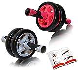 DB Praise 腹筋ローラー Ab Wheel 特典:写真付きマニュアル 4色 健康フィットネス用品 効果的なスポーツトレーニング (ピンク、グレー、ブラック、オレンジ)(Black)