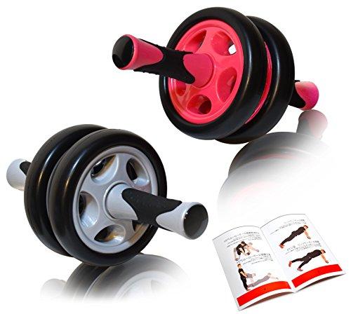 DB Praise 腹筋ローラー Ab Wheel 特典:写真付きマニュアル 4色 健康フィットネス用品 効果的なスポーツトレーニング (ピンク、グレー、ブラック、オレンジ)(Pink)