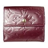 (ルイヴィトン) LOUIS VUITTON 二つ折り財布 ヴェルニ Wホック 紫 M93576