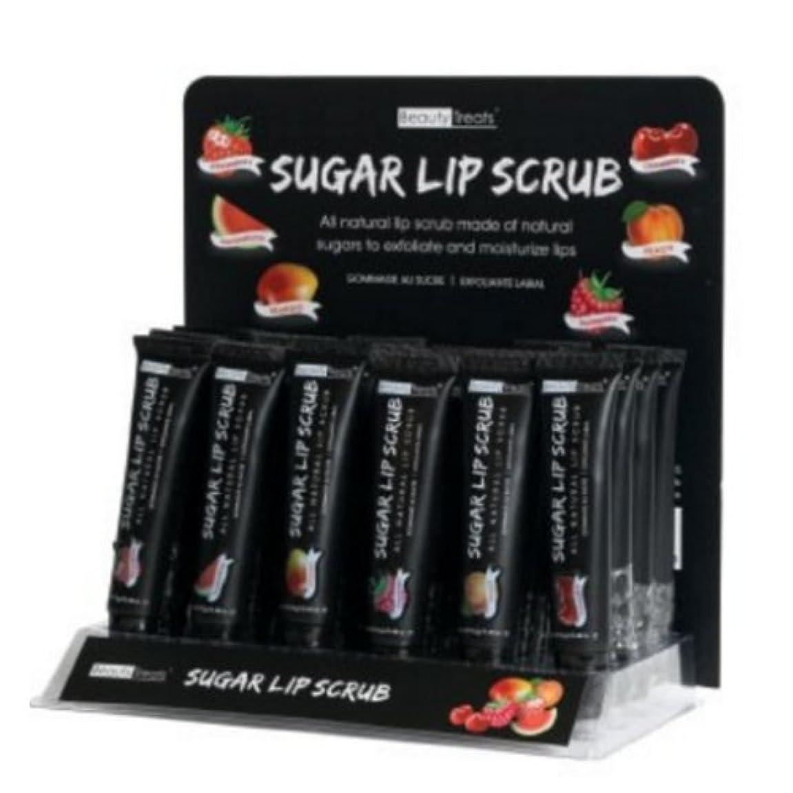 業界盆申し立てられたBEAUTY TREATS Sugar Lip Scrub Display Case Set 24 Pieces (並行輸入品)