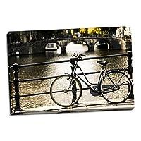 アムステルダムグレー自転車、美術写真by : Erin Berzel ; One 36x 24in Fine Art Paperジークレー印刷 One 36x24in Hand-Stretched Canvas グレー