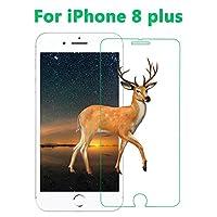 iPhone8 plus ガラスフィルム,液晶保護フィルム 旭硝子 強化ガラス 指紋防止 硬度9H 0.26㎜ iPhone8 Plus フィルムBy Hitcrunch