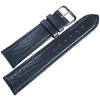 Flucoレコードbuffalo-grain 20mmブルーレザーメンズドイツ腕時計ストラップ