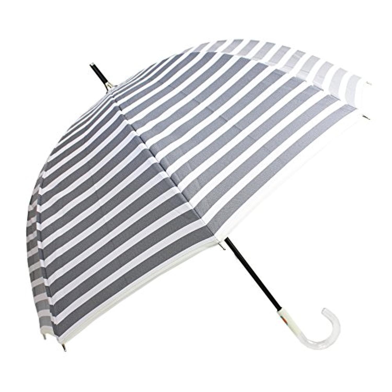 [晴雨兼用ショート] カチオンボーダー深張り 50cm 晴雨兼用パラソル