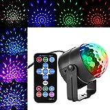 Verkstar ミニレーザーステージ照明 LED ステージ/ ディスコ/パーティー/KTV/カラオケ/クラブ/バー照明用ライト 回転ライト ミニ水晶魔球ライト RGB多色変化 音声起動 リモコン付き