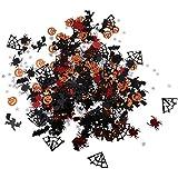 B Blesiya 紙吹雪 パーティーデコレーション テーブル DIY 飾り 約15g 手作り材料 3タイプ選べ - ハロウィン