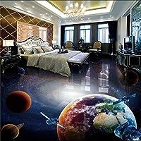 Wxmca カスタム宇宙銀河地球3Dステレオバスルームのリビングルームの床壁画バーホテルの床の壁紙-150X120Cm