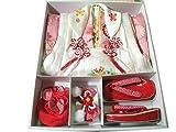 七五三 着物 3歳 正絹 被布・着物7点セット ピンク mi419