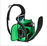 フーポット 一眼レフ カメラバック カメラリュック 多機能 防水 旅行 一眼レ backpack bag カップルバッグ おしゃれ 旅行 アウトドア撮影に適用 男女兼用  (グリーン)