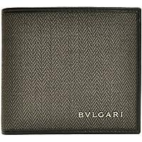 (ブルガリ) BVLGARI 財布 サイフ 二つ折り財布 ダークグレー PVC レザー 32581 ブランド メンズ アウトレット 並行輸入品