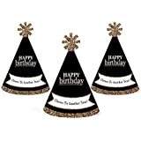大人用Happy誕生日 – ゴールド – Mini円錐Birthday Party Hats – Small Little Party Hats – 10のセット