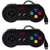 GP100  10ボタンゲームパッド スーパーファミコン風 10ボタン USB有線接続 任天堂SNES、Windows WIN7、WIN8、WIN10、Macなど適用 小型でいつでもどこでも楽しめる お得な2個セット