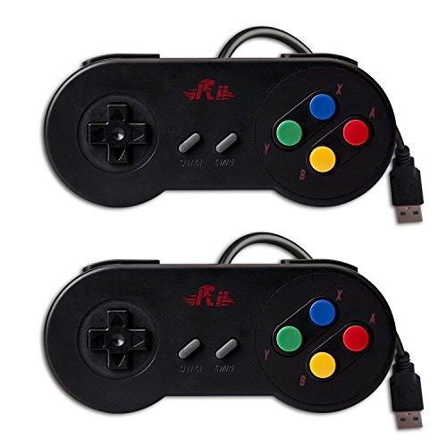 GP100  10ボタンゲームパッド スーパーファミコン風 1...