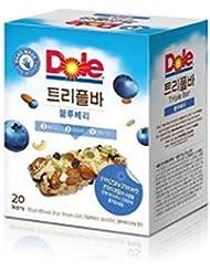 [ドール/Dole] Dole Triple Barドールトリプルバーブルーベリー35g x20個/3つのナットと3つのフルーツ、3つの種子で作成は栄養がたっぷり詰まったDiet Bar穀物バー/シリアル/栄養バー[健康...