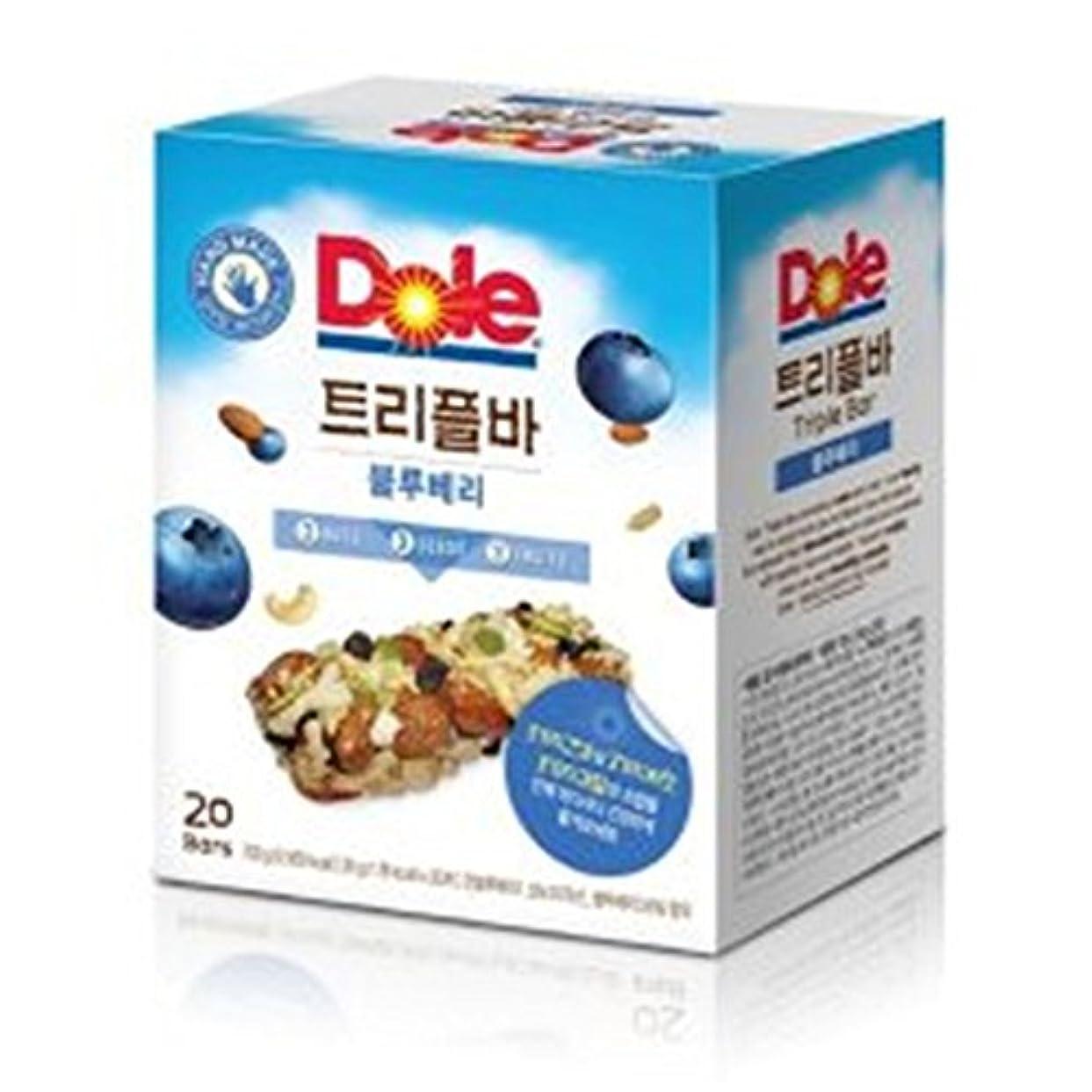 振動する溶ける多様体[ドール/Dole] Dole Triple Barドールトリプルバーブルーベリー35g x20個/3つのナットと3つのフルーツ、3つの種子で作成は栄養がたっぷり詰まったDiet Bar穀物バー/シリアル/栄養バー[健康...