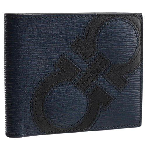 Salvatore Ferragamo(サルヴァトーレ フェラガモ) 財布 メンズ REVIVAL MAXY 2つ折り財布 ROYAL/BLUE MARINE 66A276-0001-0414 [並行輸入品]