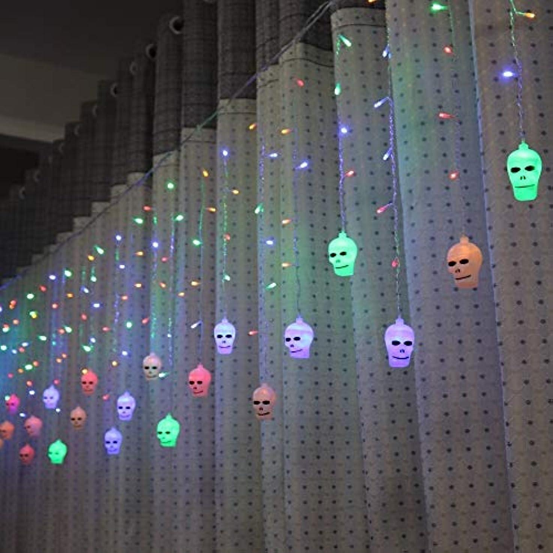 匹敵します一般的に言えば成果LAOHAO 3.5メートルハロウィンカーテンライト文字列スタイル休日照明寝室リビングルームハロウィン雰囲気装飾 ワンタイムデコレーション (Emitting Color : Multicolor)