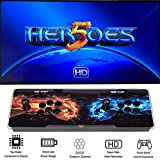 2000 in 1 ヒーローズボックス5 Heroes Box 5 アーケードゲーム機 ビデオゲームコンソール ゲームアーケード 本体 内蔵2000クラシックゲーム 2プレイヤー LEDライトバー搭載 人気デザイン トーナメントレバー機
