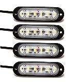 Amazon.co.jpAmilliastyle 薄型 LED デイライト 6連 LED DRL カーライト 12V24V車兼用 防水仕様 2セット入 1年保証