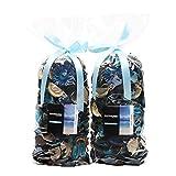 Qingbei Rina Gifts.Turquoise Fresh Potpourri Bag,Petal,Perfume Satchel,Decorate Bowl and Vase.Two Bags.8.4OZ. (Turquoise) [並行輸入品]
