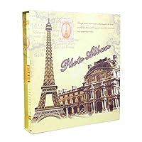 フォトアルバムインタースティシャルアルバム、レトロな6×4記念を保存することができます400の写真写真観光愛(カラー:カラー-1)