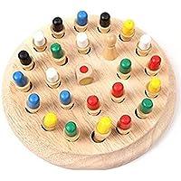メモリー チェス おもちゃ 木製パズル 子供用 型はめ 円柱さし 色彩感覚 立体感覚 記憶力 アップ 感覚教具 シリンダー 立体パズル  積み木